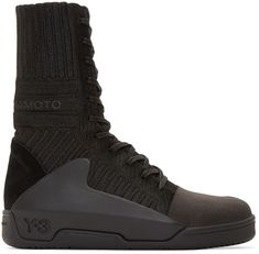 Y-3 Black High-Top Hayworth Guard Sneakers