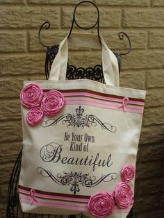 Breast Cancer Tote by SilverLeona on Etsy, $38.00