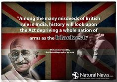Try asking a Progressive if Gandi was also a gun-grabber! Then make him/her sputter with this quote!