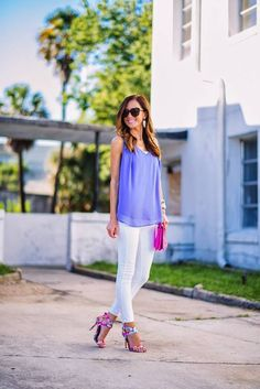 Find Boutique Purple Layered V Neck Loose Chiffon Blouse