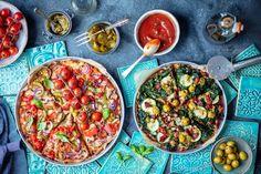 Mozzarella, Pesto, Pizza, Ethnic Recipes, Fit, Shape