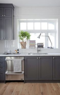 27 Incredible Farmhouse Gray Kitchen Cabinet Design Ideas
