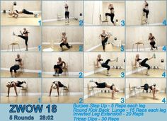 zwow 18 zuzka light total body workout. A killer but an amazing all over body workout!