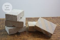 For the Makers: Glitter Gift Box DIY