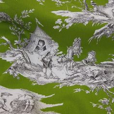 Toile de Jouy  in an awesome green.