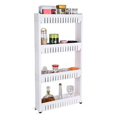 Description: Why Buy From HOMFA Superior Material HOMFA Gap Storage Slim Slide Out Tower Rack Shelf made of Durable steel with a space-age white/Grey epoxy. This attractive Utility Carts offers not only reliable strength and stability, but also a clean appearance with contemporary good looks... more details available at https://furniture.bestselleroutlets.com/game-recreation-room-furniture/home-bar-furniture/bar-serving-carts/product-review-for-homfa-4-tier-gap-kitchen-storag