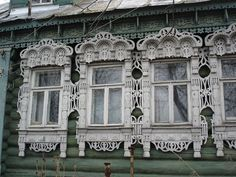 windows Russia wooden gingerbread architecture