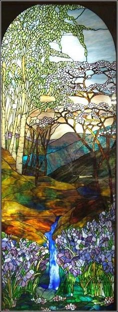 Tiffany Stained Glass Window.
