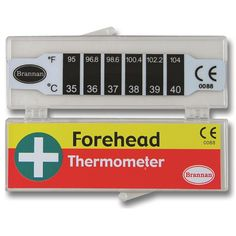 Quick and safe to use strip forehead thermometer uses heat sensitive liquid encased in plastic film. Ideal for small children. Comes complete with protective case and full instructions.