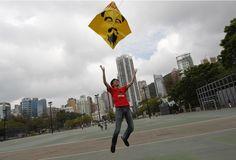 Kite depicting Ai Weiwei
