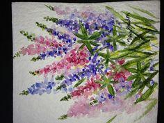 Maine Lupine, watercolor by Tisha Sheldon