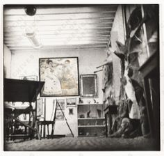 Citation: Frida Kahlo's studio, 1941 / Emmy Lou Packard, photographer. Emmy Lou Packard papers, Archives of American Art, Smithsonian Institution.