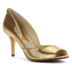 MICHAEL Michael Kors Women's Nathalie Open Toe Pump Dress Sandals ** Check out this great image : Closed toe sandals Closed Toe Sandals, Peep Toe Heels, Pumps Heels, High Heels, Gold Heels, Designer Heels, Dress Sandals, Wedding Shoes, Open Toe