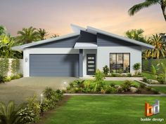 Australia& Leading Architectural Visualisation and Rendering Company specialising in Architectural Visualisation - Architectural Rendering - Artist Impressions - Rendering - floor plans - colour Floor Plan illustrations Modern Small House Design, Contemporary House Plans, House Front Design, Roof Design, Facade Design, Modern House Plans, Exterior Design, 3d Architectural Rendering, 3d Architectural Visualization
