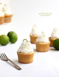 Margarita Cupcakes    Ingredients    Dry  1 1/2 c. + 3 tbsp. unbleached all-purpose flour  2 tbsp. potato starch  1/2 tsp. sea salt  1/4 tsp. baking soda  Liquid  juice of 2 limes  1/4 c. sour cream  1/4 c. heavy cream  1/4 c. whole milk  1 tbsp. tequila  1/2 tsp. vanilla extract  Creaming  1/2 c. (1 stick) unsalted butter, room temperature  3 oz.