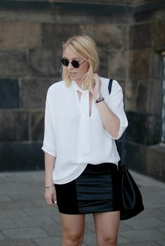 The tie neck blouse second female ootd street style inspiration minimal scandinavian bykrog (4 of 7)