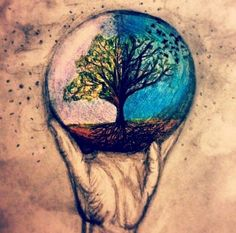colored drawing of earth - Google Search