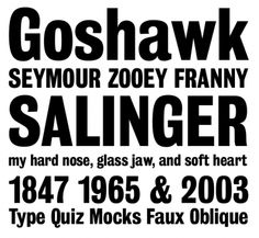 Common fonts used for newspaper design