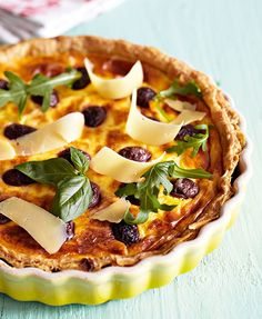 Award-winning restaurateur Reuben Riffel says: 'We are so lucky to have excellent olives at our disposal in SA. This tart is a celebration of the South African olive. Quiche Recipes, Tart Recipes, Fish Recipes, Easy Weeknight Meals, Quick Easy Meals, Anchovy Recipes, Night Food, Savory Tart, Pies