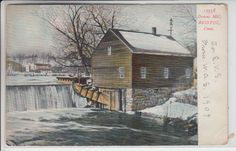 Bristol Connecticut CT Postcard 1901-1907 Downs Mill