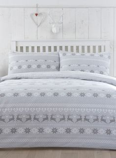 Brushed Cotton Fairisle Print Duvet Set King Size 163 35 At