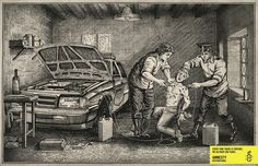 Via Argentina. Old style artwork is used to make a point.   The Most Powerful Ads Of Amnesty International