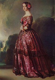 Françoise of Braganza, Princesse de Joinville, by Franz Xaver Winterhalter Franz Xaver Winterhalter, Victorian Women, Victorian Art, Painted Ladies, Historical Costume, Woman Painting, Versailles, Portrait Art, Fine Art