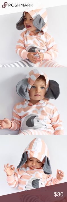Selling this 🆕 Elephant Hoodie on Poshmark! My username is: knitsbydiana…