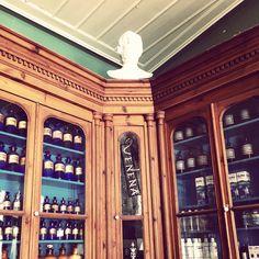 old pharmacy, Hydra, Greece Honeymoon Destinations, Pharmacy, China Cabinet, Liquor Cabinet, Greece, Island, Home Decor, Greece Country, Decoration Home