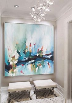 Easy Canvas Painting, Simple Acrylic Paintings, Abstract Canvas, Canvas Art, Painting Abstract, Pintura Graffiti, Colorful Abstract Art, Contemporary Wall Art, Claude Monet