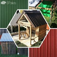 #Backyard, #Garden, #Outdoors, #PalletCompostBin, #PalletDoghouse Be adventurous, expand your creativity, and have your projects come out looking professional! Protect Your Pallet Projects with easy to use, lightweight, durable Ondura Asphalt Roofing panels, Tuftex Clear Polycarbonate panels, and Tuftex