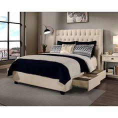 Republic Design House Archer Ivory Headboard, Storage bed and Bench Collection (Archer Ivory King/Cal King Headboard -Bench Only), Beige Off-White, Size California King Cal King Headboard, Wingback Headboard, Leather Headboard, Headboards, Oversized Furniture, Upholstered Platform Bed, Upholstered Beds, Adjustable Beds, Panel Bed