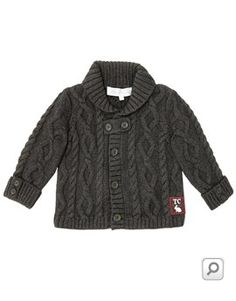 Baby Boys Chunky Cable Knit Cardigan