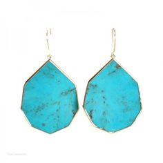 Pre-owned Ippolita 18K Gold Rock Candy Large Pointed Turquoise... ($795) ❤ liked on Polyvore featuring jewelry, earrings, turquoise gold earrings, gold teardrop earrings, 18k gold earrings, 18k yellow gold earrings and gold tear drop earrings