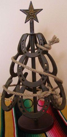 Horseshoe christmas tree  2 by CreativeWelds on Etsy