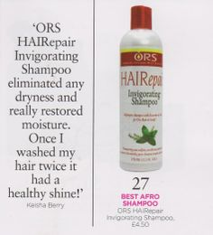 Our wonderful award winning HAIReapir Shampoo was featured in the latest edition of Black Hair Magazine. Here's a quote from one of our customers.