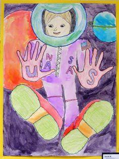 Field Elementary Art Blog!: Foreshortening Self-Portraits with Alan Bean