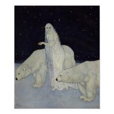 Edmund Dulac, Arthur Rackham, Walter Crane, Hans Christian, Collages, Art Nouveau, Beast, Snow Maiden, Baby Nursery Art