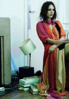 Dovile Virsilaite by Natalia Alaverdian for Harper's Bazaar Russia, July 2012