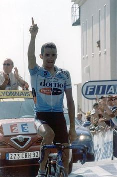 Richard Virenque arrived first at the summit of Mont Ventoux in the 2002 Tour de France, the last time the climb was included in the Tour.