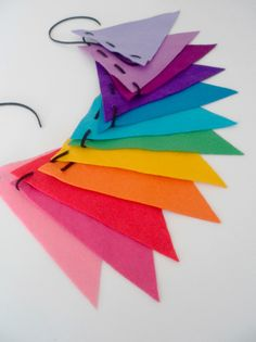 Image of GUIRNALDA ARCOIRIS 12 PIEZAS Rainbow Birthday Party, Birthday Parties, Cumple My Little Pony, Tissue Paper Garlands, Felt Banner, Art Party, Colour Board, Party Entertainment, Classroom Decor