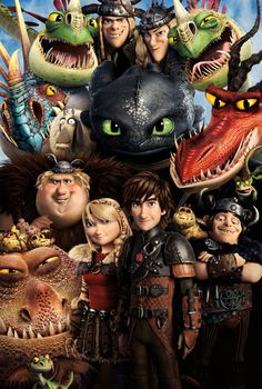 How to Train Your Dragon 2 Characters Giant Poster - A0 A1 A2 A3 A4 Sizes #Vintage