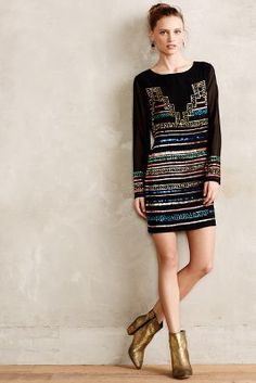 Sequin Stripe Mini Dress #Anthropologie