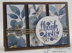 The Crafty Owl | A Whole Lot of Lovely English Garden Thank You Card