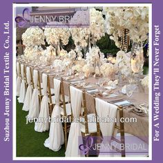 SH043A 2013 New hot sale white chiffon chiavari chair sash,chair cover for wedding, View chair covers and sashes for sale, Jenny Bridal Prod...