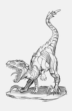 Raptor, SB Artsphere Creature concept and Zbrush sculpting. Sheldon The Tiny Dinosaur, Cute Dinosaur, Dinosaur Sketch, Dinosaur Drawing, Animal Sketches, Animal Drawings, Art Drawings, Dinosaur Images, Dinosaur Pictures