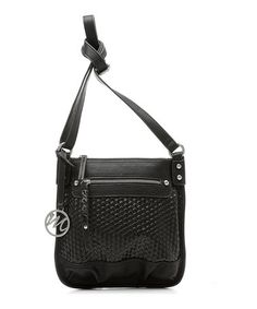 Take a look at this Black Woven Breana Crossbody Bag by emilie m. on #zulily today!
