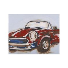 Vintage Car Child's Wall Art - Free Shipping! (vintage Car Child's Wa by The Well Appointed House $100