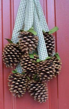 Herfst deurhanger | Autum decoration #dennenappel