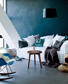 Ambiance bleue dans le salon / Blue atmosphere in the living